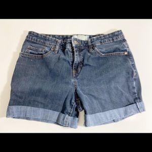❤️ 3/20 Sonoma Jean Cuffed Shorts Size 4P